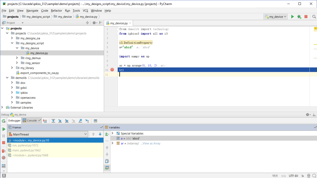 Setting up the editor environment (PyCharm) — IPKISS 3 1 documentation